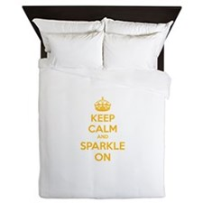 Keep calm and sparkle on Queen Duvet