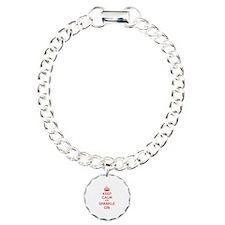 Keep calm and sparkle on Charm Bracelet, One Charm