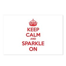 Keep calm and sparkle on Postcards (Package of 8)