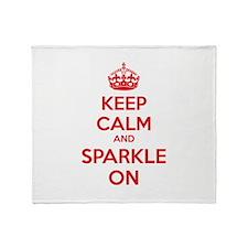 Keep calm and sparkle on Throw Blanket