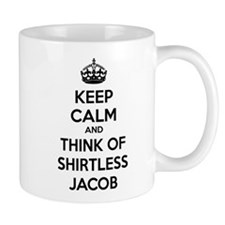 Keep calm and think of shirtless jacob Mug