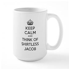 Keep calm and think of shirtless jacob Mug