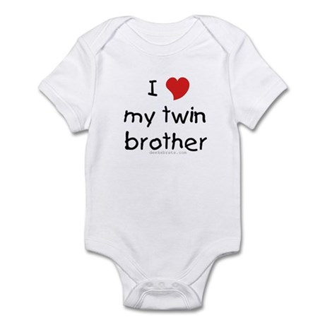 I love my twin brother Infant Creeper