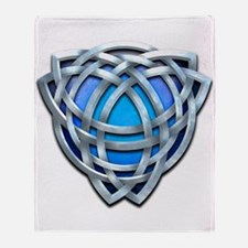 Naumadd's Silver Blue Triquetra Throw Blanket