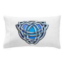Naumadd's Silver Blue Triquetra Pillow Case