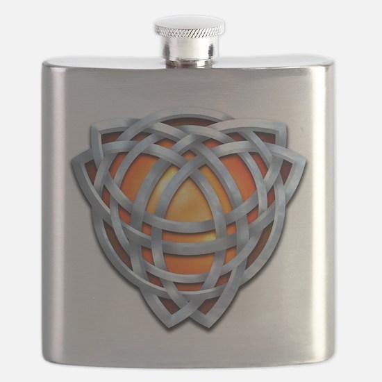 Naumadd's Silver Orange Triquetra Flask
