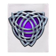 Naumadd's Silver Purple Triquetra Throw Blanket