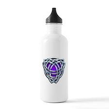 Naumadd's Silver Purple Triquetra Water Bottle