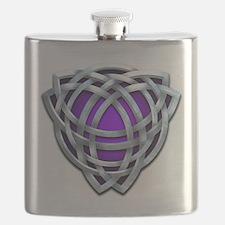 Naumadd's Silver Purple Triquetra Flask