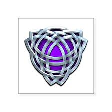 Naumadd's Silver Purple Triquetra Square Sticker 3