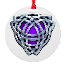 Naumadd's Silver Purple Triquetra Ornament