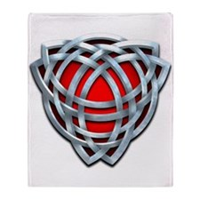 Naumadd's Silver Red Triquetra Throw Blanket