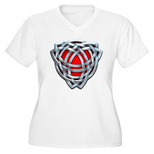 Naumadd's Silver Red Triquetra T-Shirt