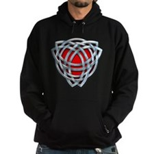 Naumadd's Silver Red Triquetra Hoodie