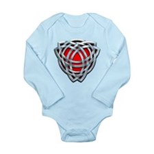 Naumadd's Silver Red Triquetra Long Sleeve Infant