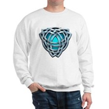 Naumadd's Silver Teal Triquetra Sweatshirt