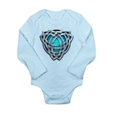 Naumadd's Silver Teal Triquetra Long Sleeve Infant