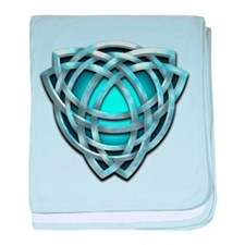 Naumadd's Silver Teal Triquetra baby blanket