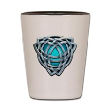 Naumadd's Silver Teal Triquetra Shot Glass