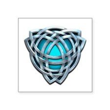 Naumadd's Silver Teal Triquetra Square Sticker 3""