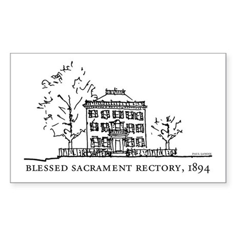 Historic Hyde Square - Rectory Sticker (Rectangula