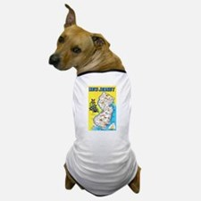 New Jersey Map Greetings Dog T-Shirt