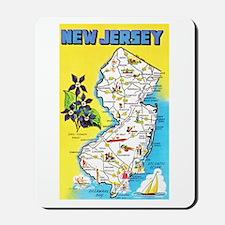 New Jersey Map Greetings Mousepad