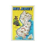 New jersey map Magnets