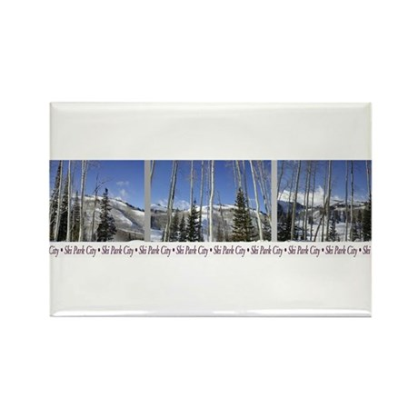 Park City on top of Deer Vall Rectangle Magnet (10