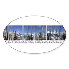 Park City on top of Deer Vall Oval Decal