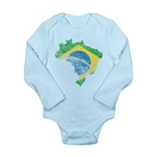 Brazil Flag/Map Distressed Body Suit