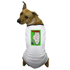 Illinois Map Greetings Dog T-Shirt