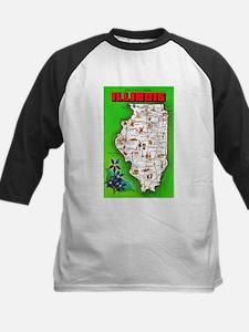Illinois Map Greetings Tee