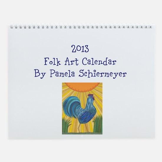 Cute Art by pamela schiermeyer Wall Calendar