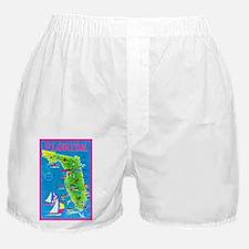 Florida Map Greetings Boxer Shorts