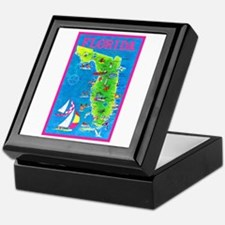 Florida Map Greetings Keepsake Box
