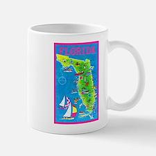 Florida Map Greetings Mug