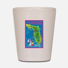 Florida Map Greetings Shot Glass