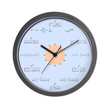 Math Wall Clock (blue)