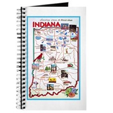 Indiana Map Greetings Journal