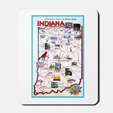 Indiana Map Greetings Mousepad
