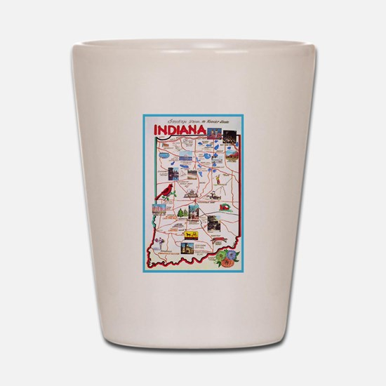 Indiana Map Greetings Shot Glass