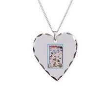 Indiana Map Greetings Necklace