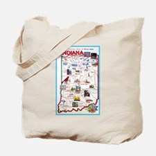Indiana Map Greetings Tote Bag