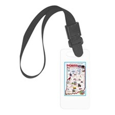 Indiana Map Greetings Luggage Tag