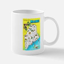 Maine Map Greetings Mug