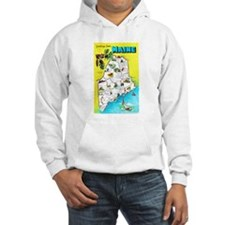 Maine Map Greetings Hoodie