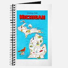 Michigan Map Greetings Journal