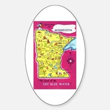 Minnesota Map Greetings Decal