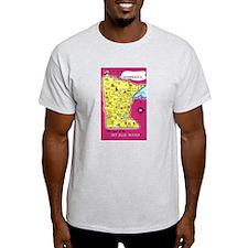 Minnesota Map Greetings T-Shirt